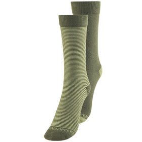 Craghoppers M's NosiLife Socks Twin Pack Parka Green/Dry Grass